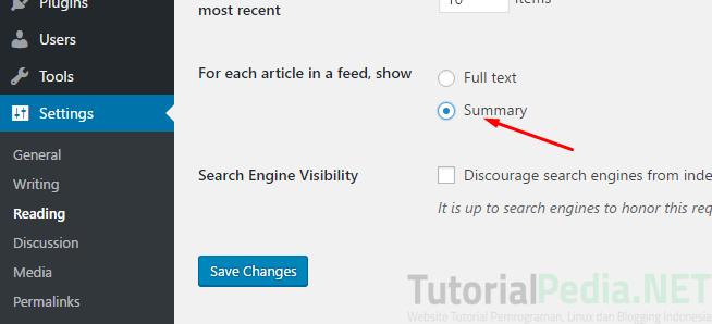 pengaturan dasar pada wordpress