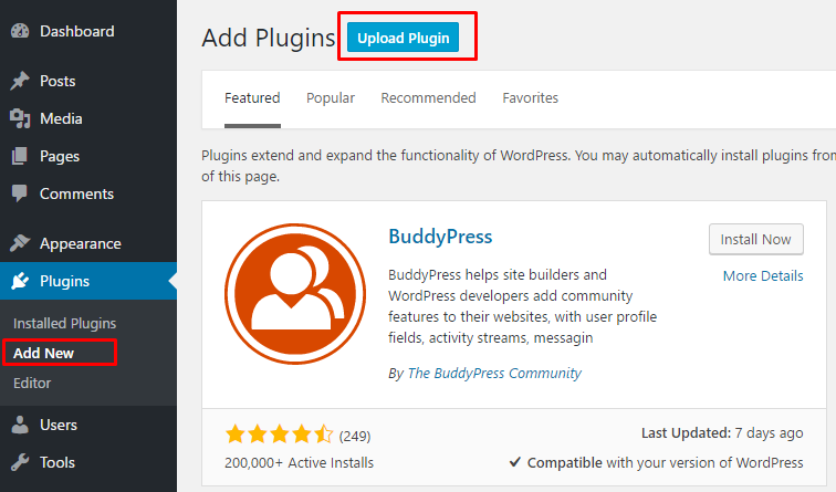 cara install plugin di wordpress