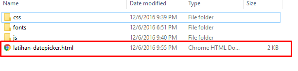 membuat datepicker pada bootstrap
