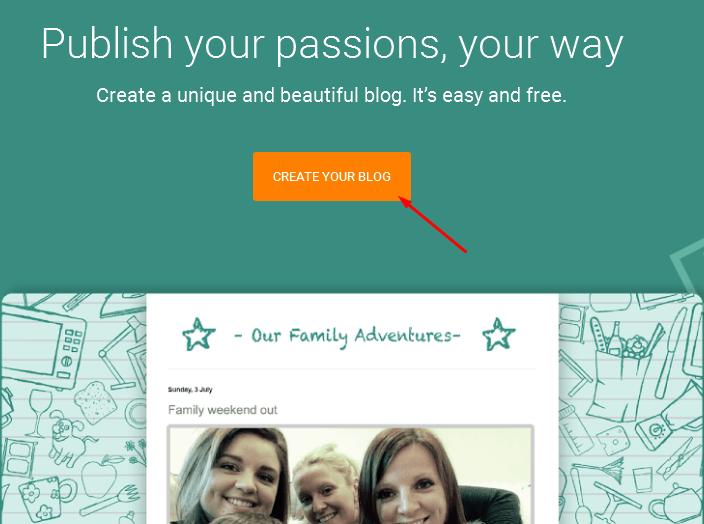 cara membuat blog di tampilan baru