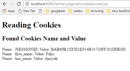 cara menggunakan cookies di jsp