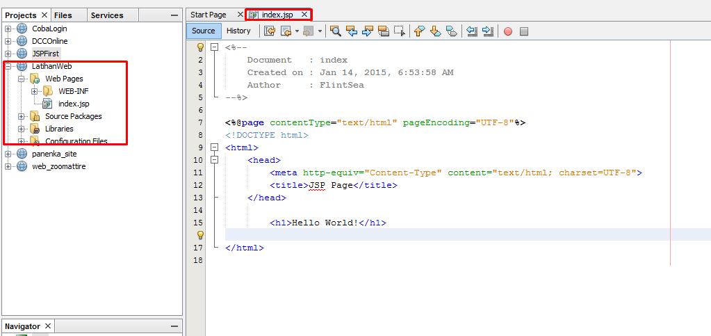 Membuat web sederhana dengan java