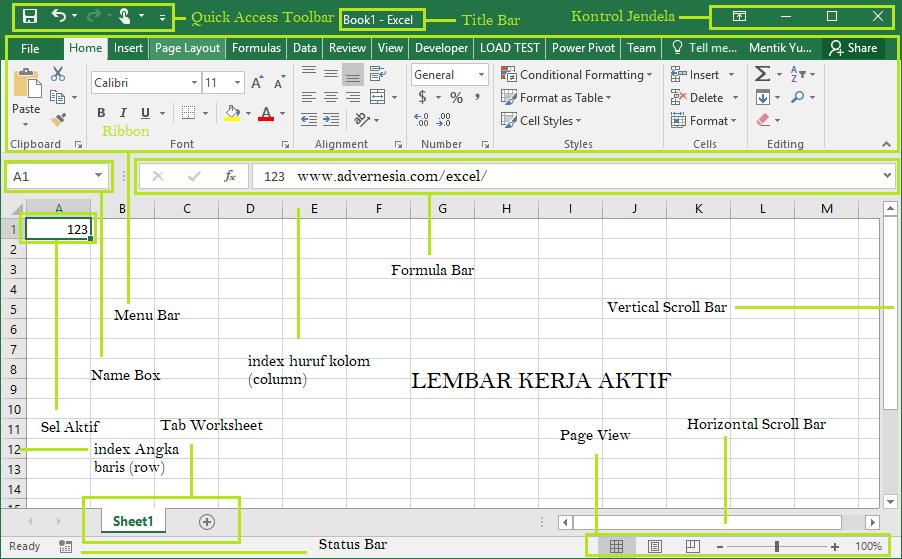 Tutorial Membuat Workbook dan Fungsinya di Excel ...